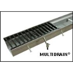 "MultiDrain Systems, Inc. - MultiDrain Steel Trench Drain - Series 2400, 24"" Width"