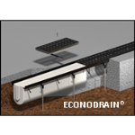 "MultiDrain Systems, Inc. - EconoDrain® EPS Trench Drain Forming System – Series #8, 8"" Width"