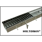 "MultiDrain Systems, Inc. - MultiDrain Steel Trench Drain - Series 600, 6"" Width"