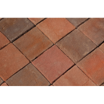 The Belden Brick Company - Red Pavers:Rembrandt 8x8 Paver - Crestline Brick Pavers