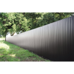 Berridge Metal Roof and Wall Panels - Architectural Privacy Fence