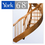 "York Spiral Stair - The York 6'8"" Spiral Stair"