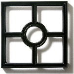 Pineapple Grove Designs - Cross & Circle Grille-114