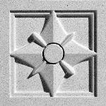 Pineapple Grove Designs - Heraldry-103 Medallion