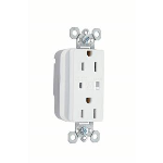 Wiremold - PlugTail™ Extra Heavy-Duty Surge Protective Duplex Receptacle, White
