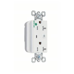 Wiremold - PlugTail™ Hospital Grade Tamper-Resistant Surge Protective Duplex Receptacle, White