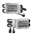 Wiremold - Furniture Power, Extra-Capacity Unit Pair for Three-Way Switching, Duplex Receptacle, 2 USB Ports