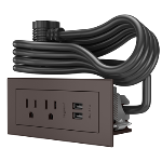 Wiremold - Furniture Power Basic Power Unit- Brown