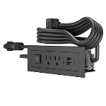 Wiremold - Furniture Power Center Basic Switching Unit with 10' Cord- Black