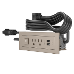 Wiremold - Furniture Power Switching Power Unit- Nickel
