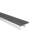 American Safety Tread Co. - Type 8711 Ribbed Abrasive Stair Nosing - Sloped Riser Steel Pan Stairs