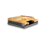 Aacer Flooring - Anchored Power Sleeper™ SE Fixed Resilient Wood Athletic Floor