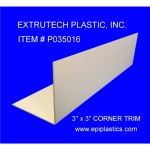 Extrutech Plastics, Inc. - P0350 3 x 3 Inch Outside/Inside Corner Trim