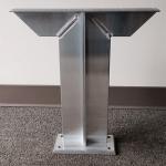 Rakks/Rangine Corporation - Double Arm Floor Mounted Pedestal Bench Bracket