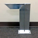Rakks/Rangine Corporation - Single Arm Floor Mounted Pedestal Bench Bracket
