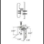 Rakks/Rangine Corporation - HR-203 Handrail Mounting Bracket