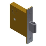 Crown Industrial - Mortise Deadbolt Lock with variable backset options