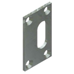Crown Industrial - Latch Strike Plate for 128p11-Zinc