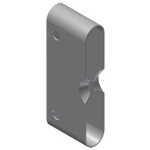 Crown Industrial - Roto Latch, Receiver-Zinc