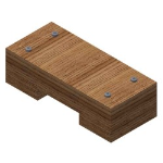 Crown Industrial - #405 Chain Guide Support Block, Wood