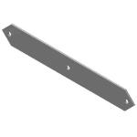 """Crown Industrial - Back Plate 1/4""""x21-1/2""""-Ptd"""