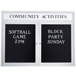 Seton Identification Products - Custom Header Outdoor Enclosed Letterboards