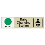 Seton Identification Products - Baby Changing Station Vacant/Occupied - Engraved Restroom Sliders