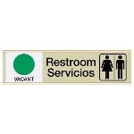 Seton Identification Products - Restroom Vacant/Occupied - Bilingual Engraved Restroom Sliders