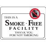 "Seton Identification Products - This Is A Smoke-Free Facility - 10""W x 7""H Decor Signs - 97806"