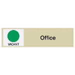 Seton Identification Products - Office-Vacant/Occupied - Engraved Facility Sliders