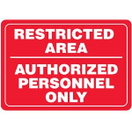 Seton Identification Products - Restricted Area/Authorized Personnel Interior Signs - 97827