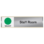 Seton Identification Products - Staff Room-Vacant/Occupied - Engraved Facility Sliders
