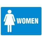 Seton Identification Products - Anti-Microbial Signs - Women