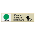 Seton Identification Products - Gender Neutral Restroom Sliders W/ Accessibility Vacant/Occupied