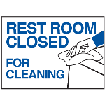 Seton Identification Products - Magnetic Housekeeping Signs - Rest Room Closed - 43826
