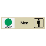 Seton Identification Products - Men Vacant/Occupied - Engraved Restroom Sliders