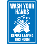 Seton Identification Products - Wash Your Hands Interior Signs - 89405