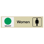 Seton Identification Products - Women Vacant/Occupied - Engraved Restroom Sliders