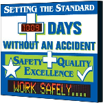 Seton Identification Products - Electronic Safety Scoreboard - Setting The Standard Without Accident - 4088D