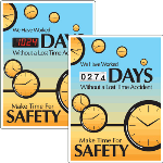 Seton Identification Products - Motivational Safety Scoreboards - Make Time For Safety