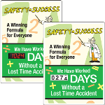 Seton Identification Products - Motivational Safety Scoreboards - Safety Equals Success
