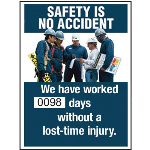 Seton Identification Products - Motivational Safety Scoreboards - Safety Is No Accident