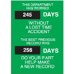 Seton Identification Products - Safety Scoreboards - 29197