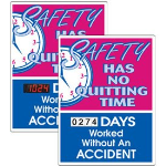 Seton Identification Products - Stock Scoreboards - No Quitting No Accident