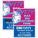 Seton Identification Products - Stock Scoreboards - No Quitting No Lost Time Accident
