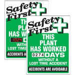 Seton Identification Products - Stock Scoreboards - Safety First Plant