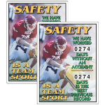 Seton Identification Products - Stock Scoreboards - Safety Is A Team Sport