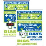 Seton Identification Products - Stock Scoreboards - Setting The Standard (Bilingual)