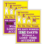 Seton Identification Products - Stock Scoreboards - TEAM Without Lost Time Accident