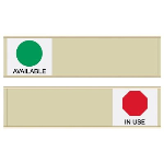 Seton Identification Products - Available/In Use - Blank Sign Sliders